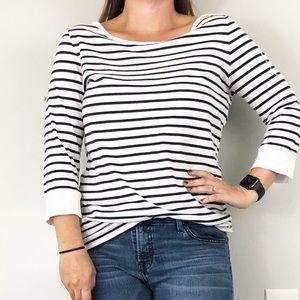Lucky Brand | XL | Navy & White stripe tee